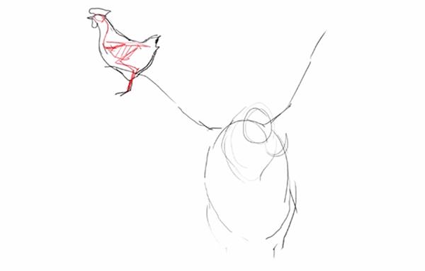 鳥のポーズのニュアンスを固める