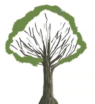 木の葉を描く