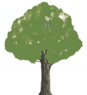 木の葉のムラを描く