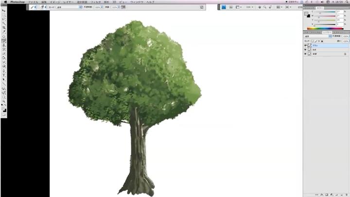 photoshopで描いた木のイラスト