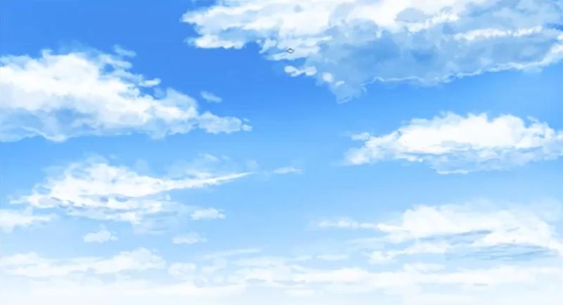 雲のイラストの完成