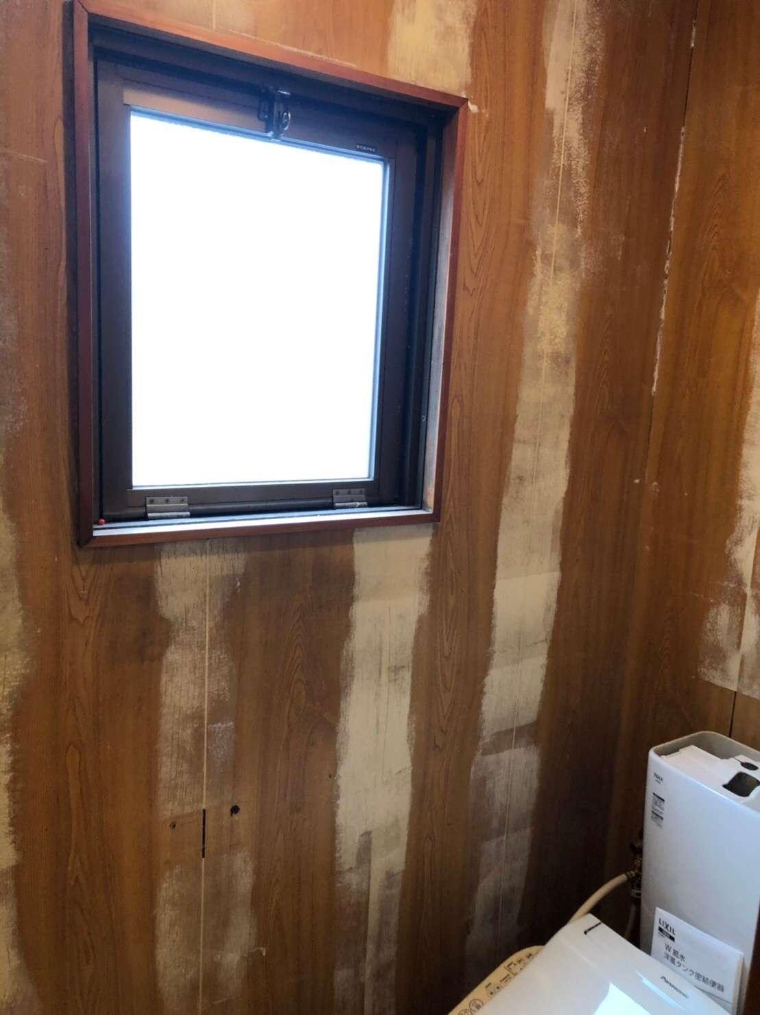 静岡市 トイレ リフォーム クロス 壁紙工事 クロス張替え 内装工事