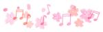 フリー素材_桜と音符150