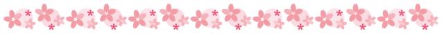フリー素材_桜ライン