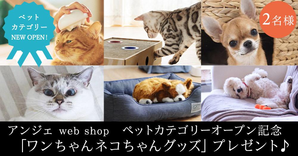 【アンジェ】ペットカテゴリーオープン記念 あなたはイヌ派?ネコ派? 投票してワンちゃんネコちゃんグッズを当てよう!