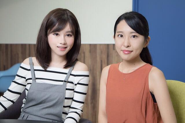 左:陶沙 右:株式会社アイディール オペレーションチーム 依田有里佳