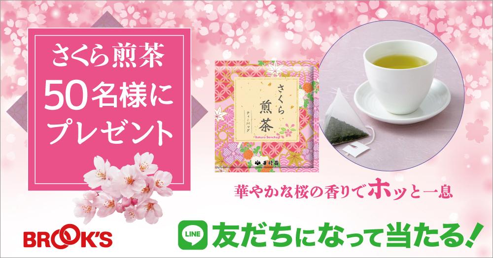 華やかな桜の香りでホッと一息『さくら煎茶』\50名様にプレゼント/LINE友だち追加でもらっちゃおう!