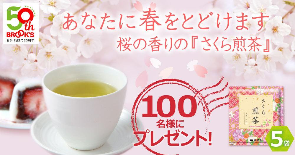 【100名様にプレゼント】桜の香りの『さくら煎茶』~あなたに春をとどけます~
