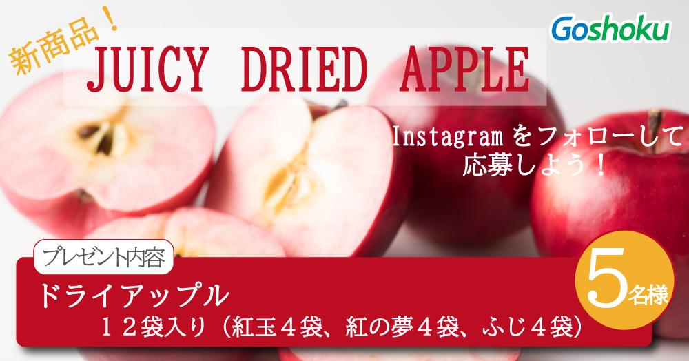 【Instagramをフォローして応募しよう!】新商品 ドライアップル!!【5名様】