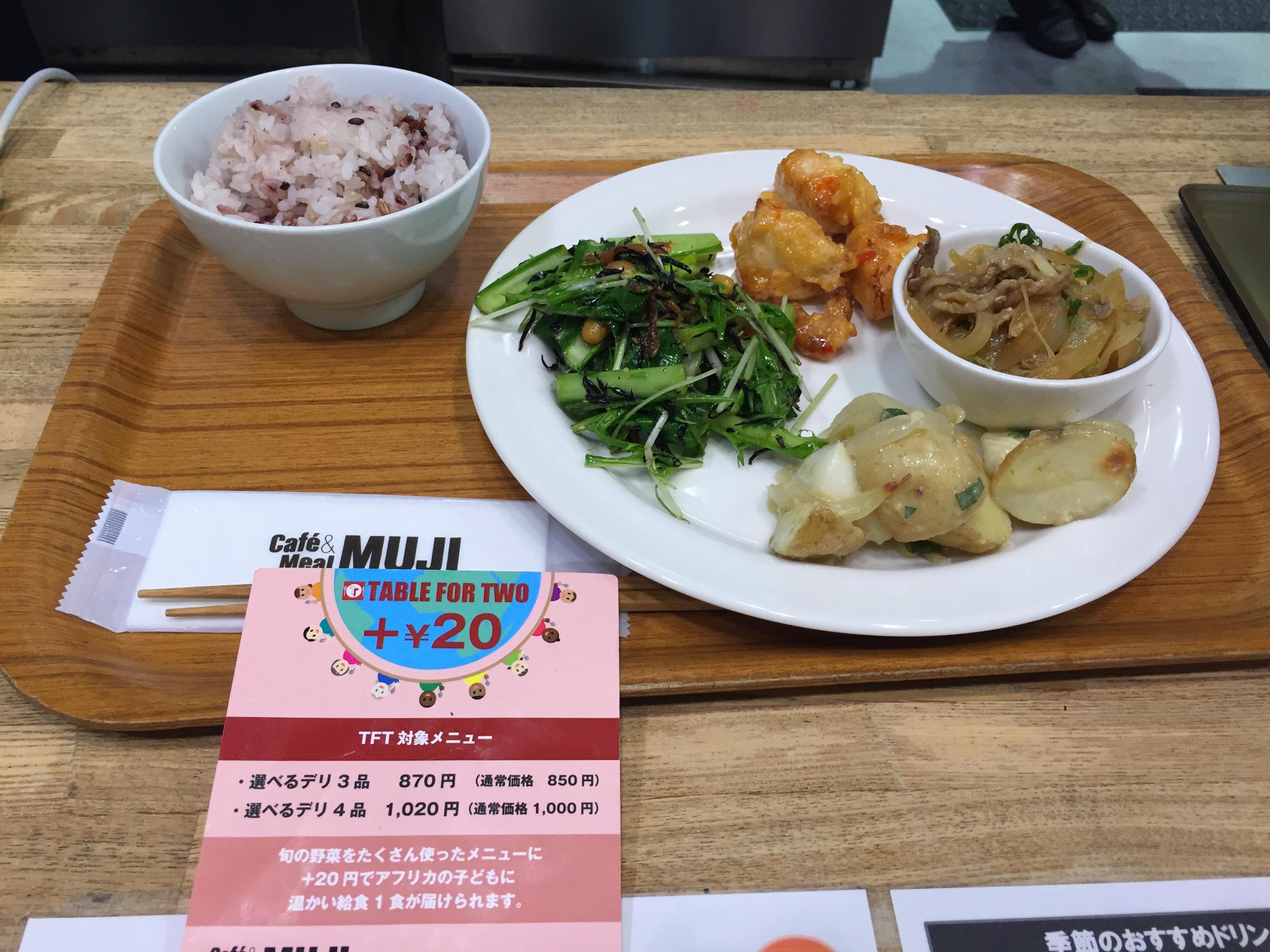 ゴルフ菜園プロジェクト 〜食べて寄付する編(Cafe&Meal MUJI)〜