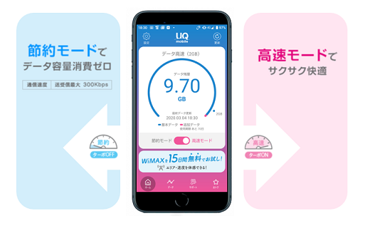 UQモバイルのポータルアプリがリニューアルしました!