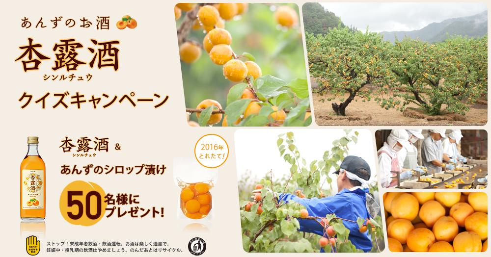 『あんずのお酒』杏露酒クイズキャンペーン