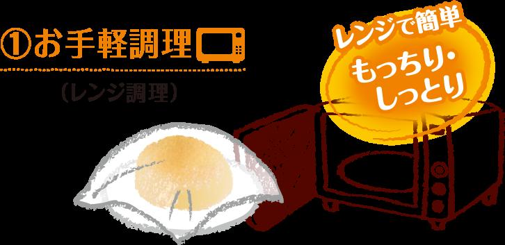 ①お手軽調理(レンジ調理)
