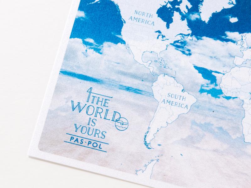 Pas Pol世界地図 Pas Pol 旅のモノづくりブランド Tabippo