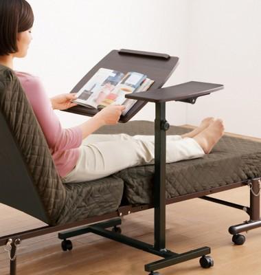 活動雙檯面升降筆電桌/工作桌/床邊桌/懶人桌 (4.3折)