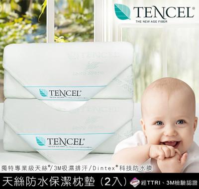 天絲防水保潔枕墊2入 (1.4折)