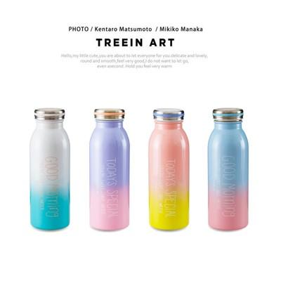 珠光彩色漸層牛奶保溫瓶 304不鏽鋼銹鋼 保冷 隨身瓶 隨行杯 環保杯水瓶水壺【RS514】 (3.7折)