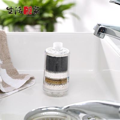 【生活采家】交叉導水家庭型淋浴用除氯過濾器#F03009002 (3.6折)