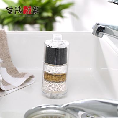【生活采家】交叉導水家庭型加量淋浴用除氯過濾器#F03009001 (3.7折)
