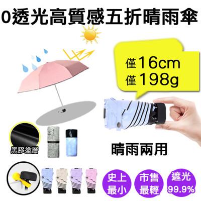 挑戰史上最迷你0透光五折晴雨傘 (3.1折)