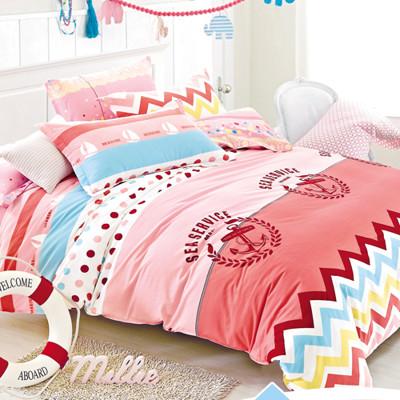 【FOCA-雙人4】100%精梳純棉四件式兩用被床包組-多款任選 (3.7折)