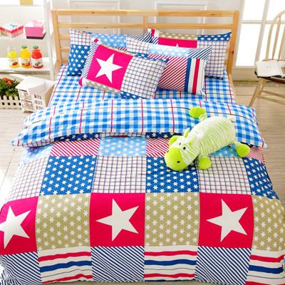 【FOCA-加大1】100%精梳純棉四件式兩用被床包組-多款任選 (3.6折)