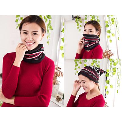 秋冬保暖三用印花圍巾 (1.8折)
