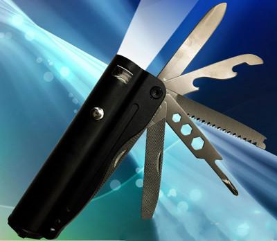 多功能工具刀強光手電筒套組 (4.3折)