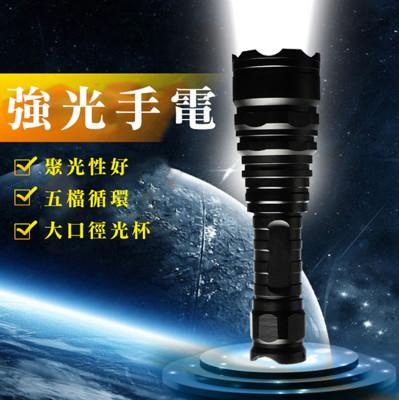 L2大口徑防身強光手電筒 (5.5折)