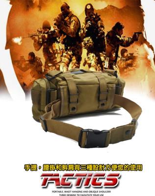 多功能3用帆布戰術包/手提斜背包腰包 (4.2折)