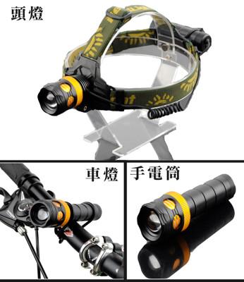 L2三合一多功能強光手電筒/頭燈 (4.2折)