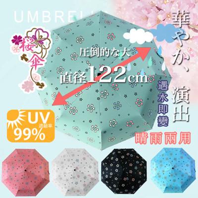 超大自動開合碳纖維抗UV變色晴雨傘-120公分 (1.6折)