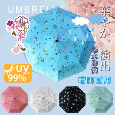 自動開合碳纖維抗UV變色晴雨傘-96公分 (1.6折)