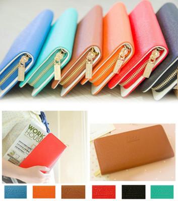 多功能甜美彩色長夾 收納包 錢包 皮包 (6.2折)