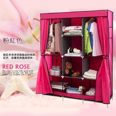 組合衣櫃【雙門加大加寬DIY防塵衣櫃】組合衣櫥 DIY衣櫥 (2.7折)