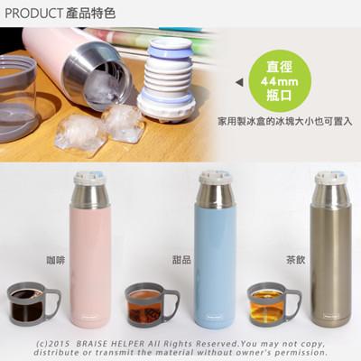 304不鏽鋼隨身提手保冰保溫杯/瓶(450ml) (4.6折)