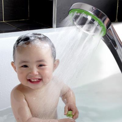 按壓式三段SPA節水增壓蓮蓬頭/花灑(套組附不鏽鋼軟管) (7.3折)