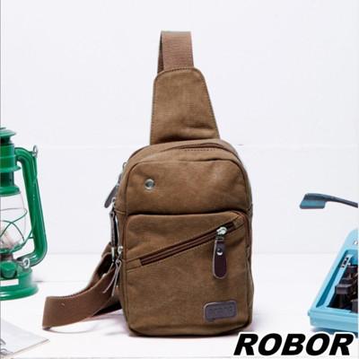 韓系型男 ROBOR原宿風帆布包單肩包單車包(棕色) (3.7折)