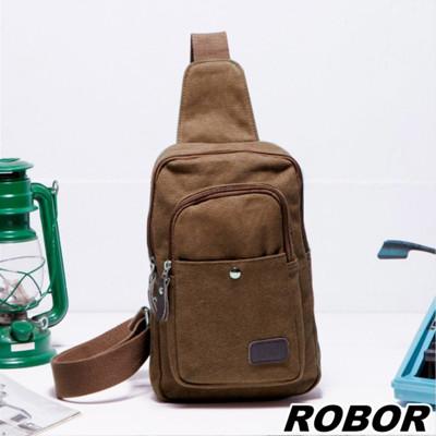 韓系型男 ROBOR坦克帆布包單肩包單車包(棕色) (3.7折)