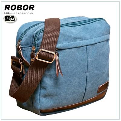 韓系型男 ROBOR東京時尚簡約風休閒包/側背/斜背包(藍色) (3.8折)