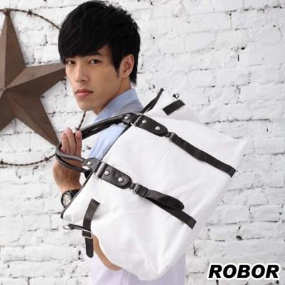 韓系型男 ROBOR淡定型男側背/手提/斜背三用包(白色) (3.9折)