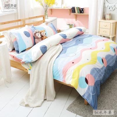 【美夢元素】精梳純棉涼被床包組 雙人四件式 (3.6折)