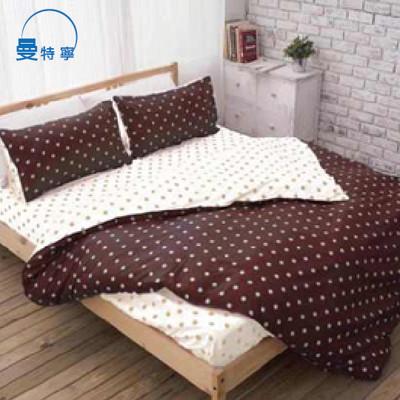 【韋恩寢具】雲柔絲點點世界枕套床包組-雙人 (2.7折)