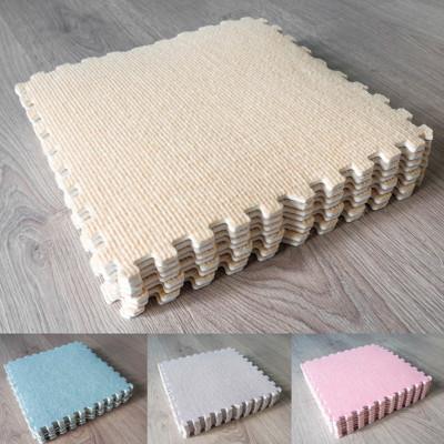 4色可選 磨毛保暖EVA巧拼地墊X8 磨毛地墊 地毯 止滑墊 (4.6折)