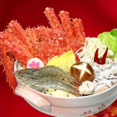 【一等鮮】帝王蟹海鮮鍋(約4-6人份/3kg) (6.4折)
