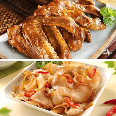 滷味小菜(煙燻薄片+鴨翅) (6.6折)