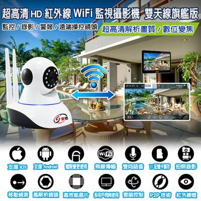 IS-超高清HD紅外線WIFI雙天線監控攝影機 (4.3折)