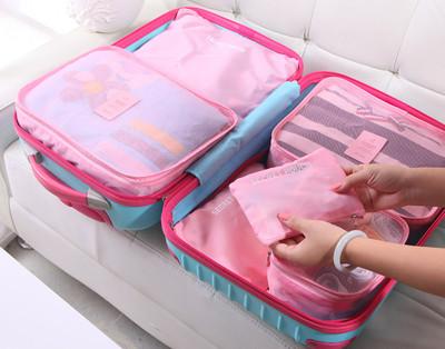 輕巧簡便旅行衣物收納網格袋超值組(6件/套) (4.7折)