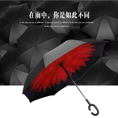 BLISSIN鉑麗星 免手持創新上收式反向傘 新C型免手握雨傘 (4折)