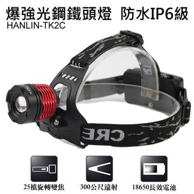 【HANLIN-TK2C】爆強光鋼鐵頭燈 (2.4折)
